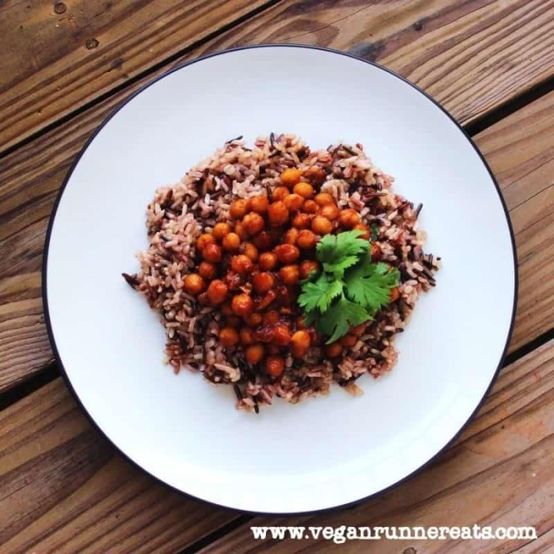 Vegan barbecue chickpeas recipe - healthy vegan comfort food
