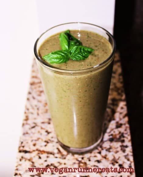 Vegan breakfast smoothie for post workout recovery