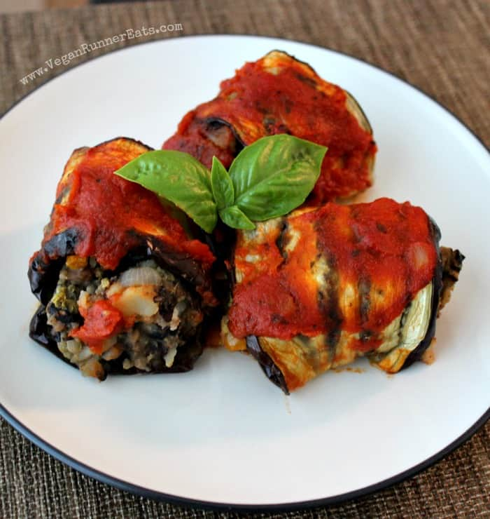 Vegan Eggplant and Potato Rollups Recipe