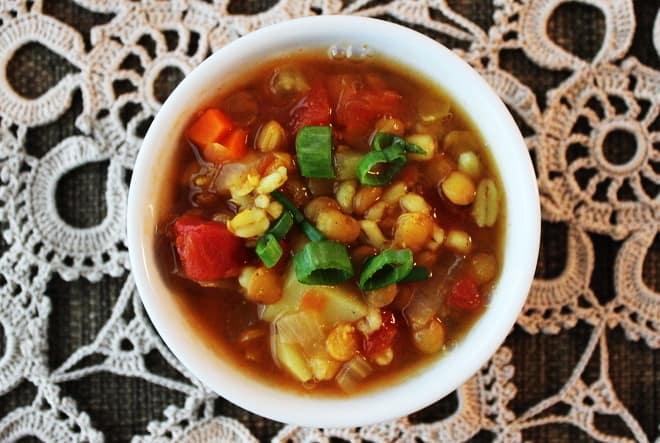 Barley-Lentil Soup with Potatoes