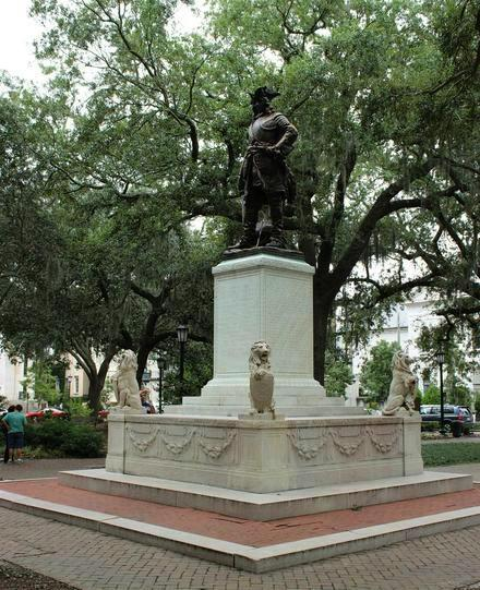 Chippewa Square; James Oglethorpe