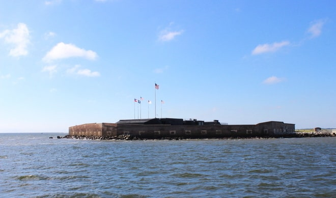 Ft Sumter (from the ferry)