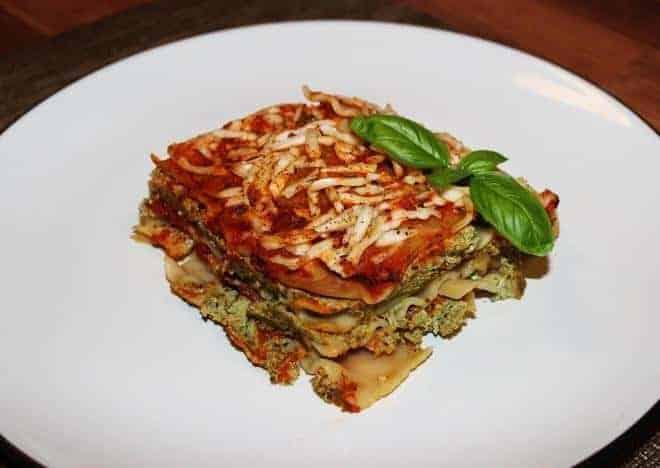 Homemade Vegan Lasagna with Kale, Mushrooms and Tofu | Vegan Runner ...