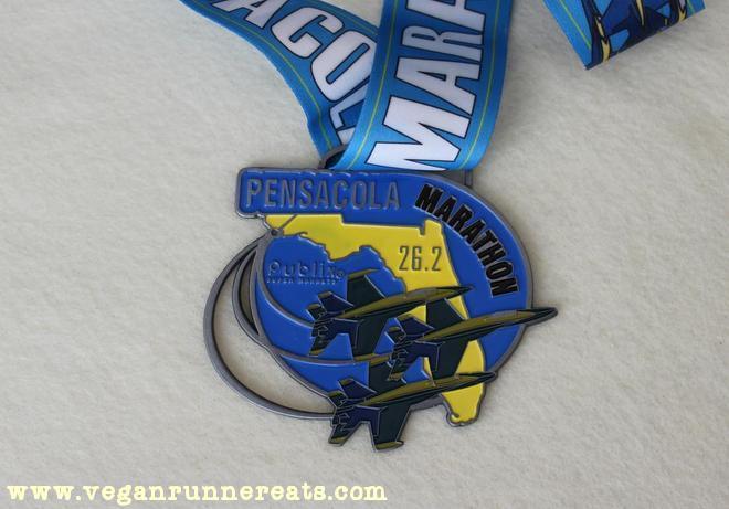 Pensacola Marathon finisher's medal