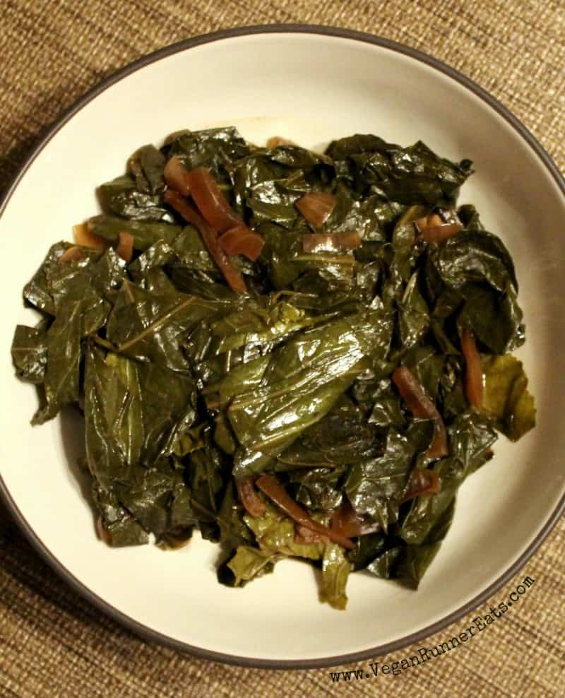 Classic Southern collard greens in a slow cooker recipe