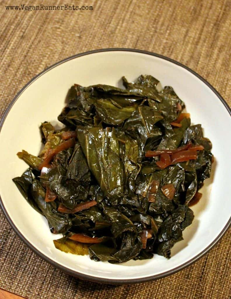 Classic vegan slow cooker collard greens recipe