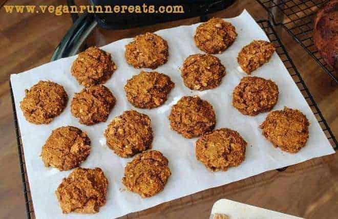 Vegan peanut butter cookies recipe with pumpkin
