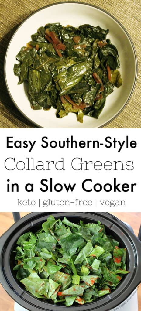Easy Southern-style collard greens in a slow cooker