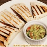 Veggie-Loaded Vegan Quesadillas (No Cheese!) and Easy Guacamole Recipe
