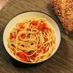 Bruschetta Pasta – the Quickest Dinner Recipe I've Ever Made (A Great Dinner Before a Running Race Too!)