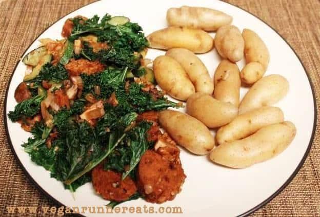 Sausage'n'kale
