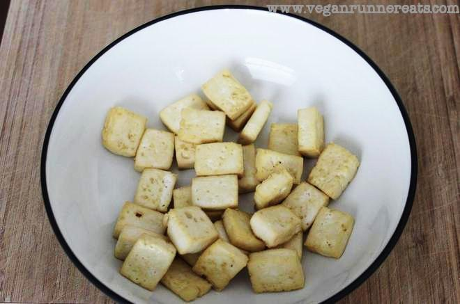 Perfectly baked oil-free tofu for use in stir-fries, soups, salads, etc.