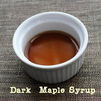 Natural liquid sweeteners: Dark maple syrup