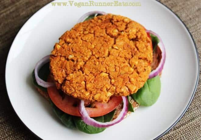 Recipe for vegan chickpea burger