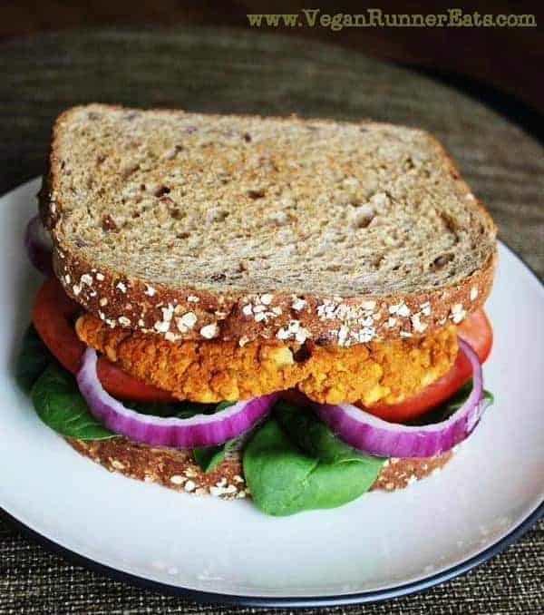 Vegan chickpea sweet potato burger recipe