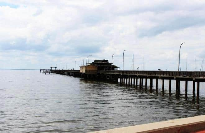 Pier in the summer