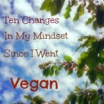 Ten Changes in My Mindset I've Had Since Going Vegan – Part 2 of My Veganniversary Celebration