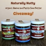 New Giveaway: Three Jars of Organic Almond and Pumpkin Seed Butter from Naturally Nutty