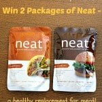 New Giveaway! Win 2 Packages of Neat – a Healthy Meat Replacement in Original and Mexican Flavors