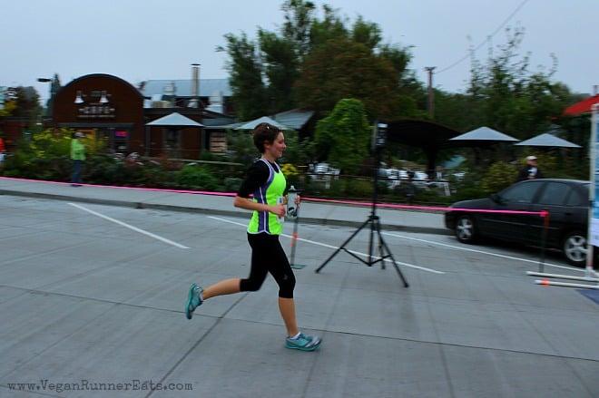 Alina at finish