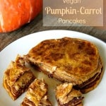 New Breakfast Recipe: Vegan Pumpkin-Carrot Pancakes