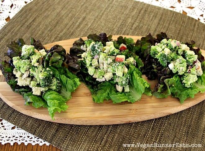 Vegan Broccoli Apple Winter Salad Tacos Recipe