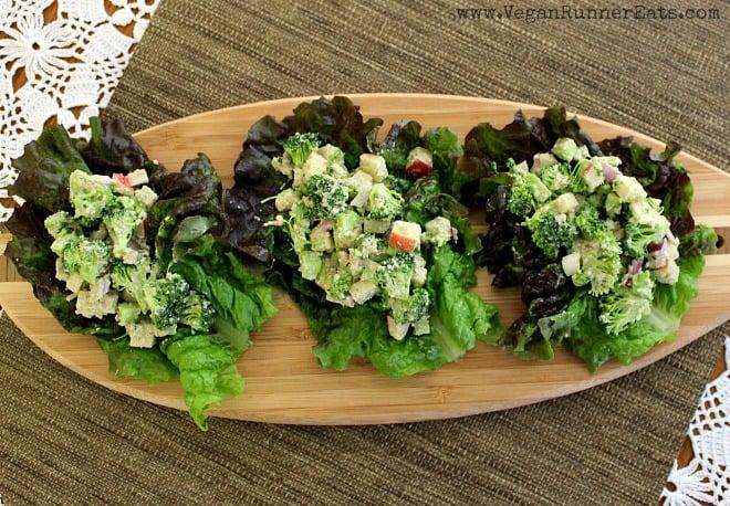 Broccoli Apple Winter Salad Tacos