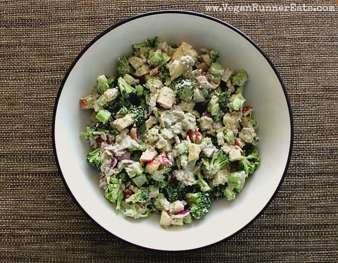 Broccoli Apple Winter Salad in a bowl