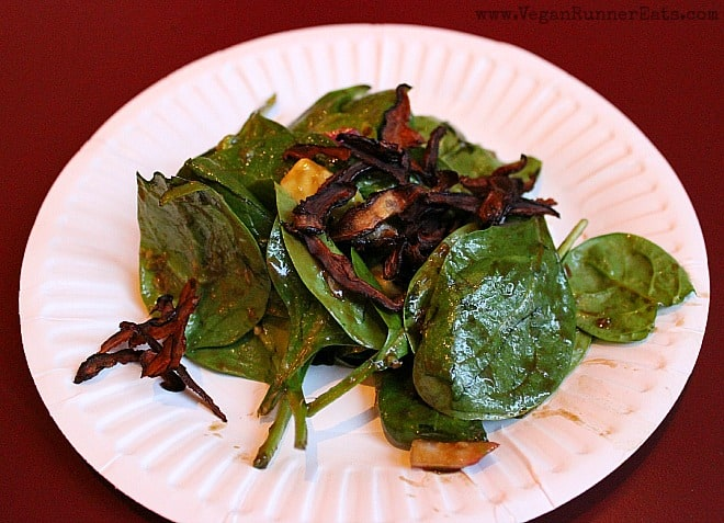 Shiitake Bacon Salad by Fire and Earth Kitchen