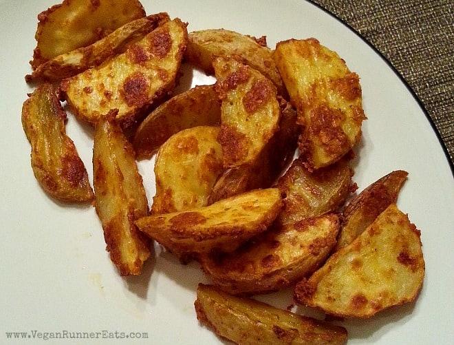 Garlic Jojos - Ethiopian-style potato wedges from Teff Love cookbook