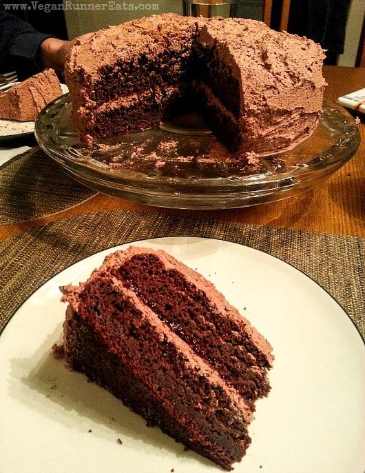 Homemade vegan chocolate cake