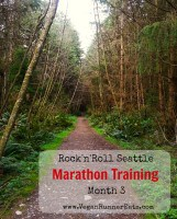 Rock'n'Roll Seattle marathon Training month 3 update