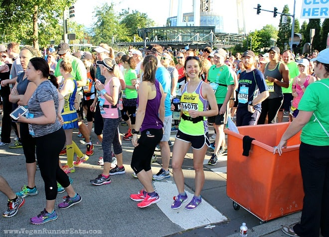 Runners at the start of Rock'n'Roll Seattle marathon
