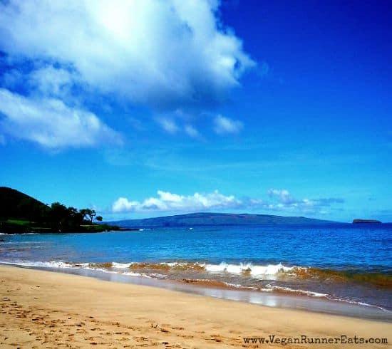 Big beach on Maui Hawaii