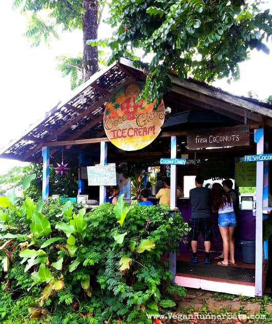 Coconut Glen's Ice Cream Stand on the road to Hana, Maui, Hawaii