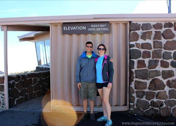 On top of Haleakala volcano in Maui Hawaii