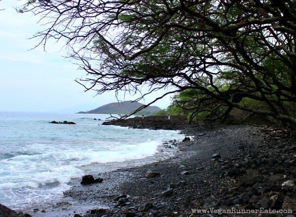 Rocky lava beach in South Maui Hawaii