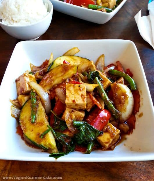 Vegan dinner at Thai Spice in Paia, Maui, Hawaii