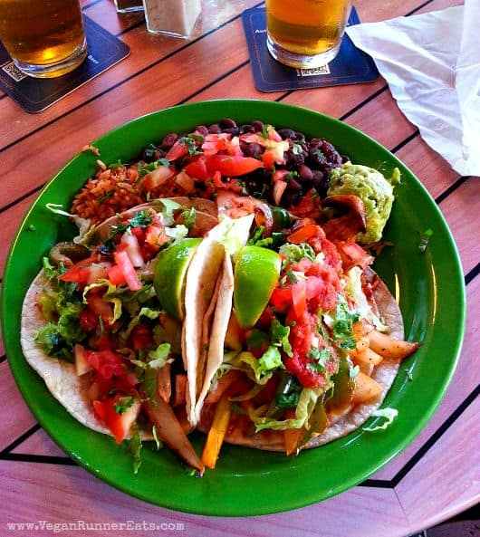 Vegan tacos at Milagros restaurant in Paia, Maui, Hawaii