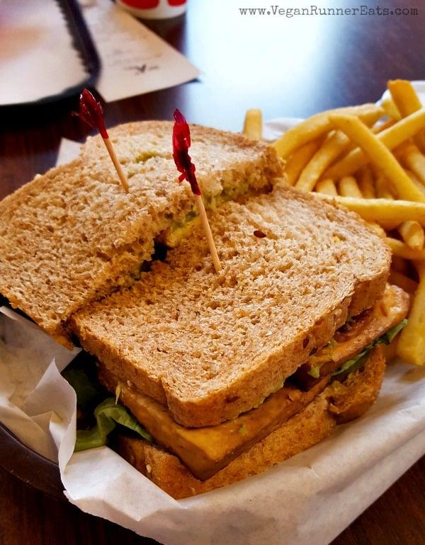 Vegan Tofu and Avocado Sandwich at Smart Alec, Berkeley, CA