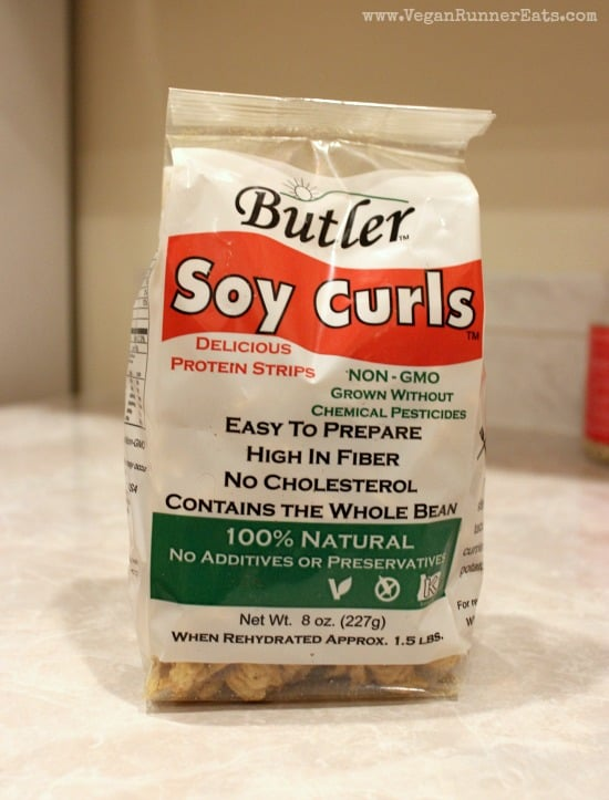 Butler Soy curls are used to make vegan fajita filling