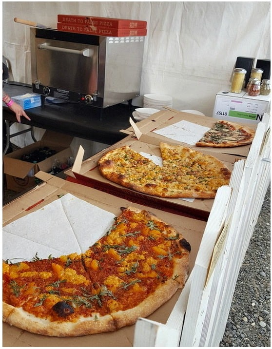 Sizzle Pie vegan pizza stand at Portland Vegan Beer and Food Festival