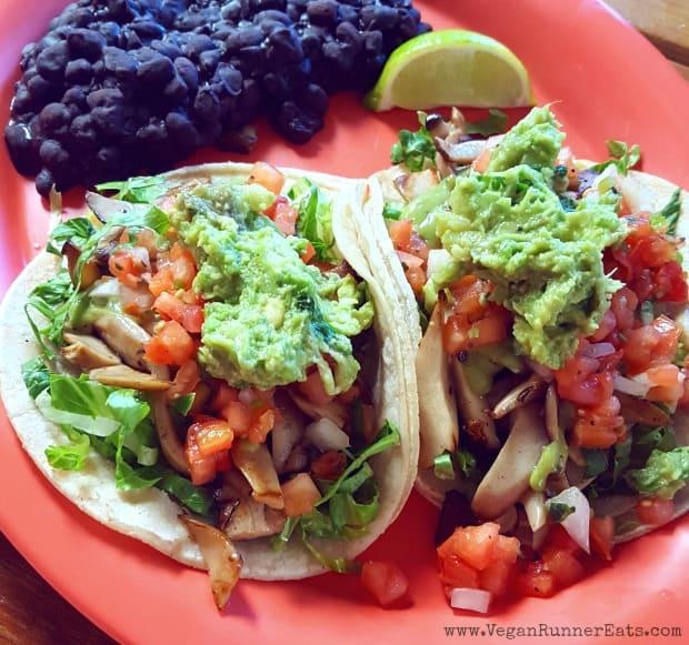 Vegan food on the Big Island of Hawaii: veggie tacos at the Boat Landing Cantina at Hilton Waikoloa Village