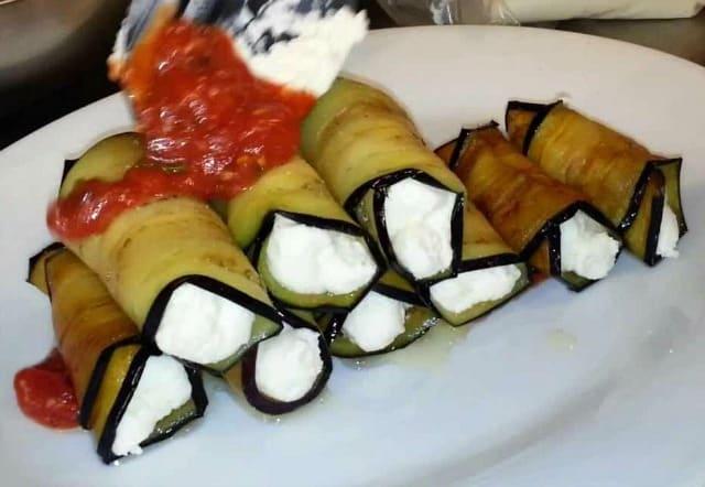 Vegan Ricotta-Stuffed Eggplant Rolls