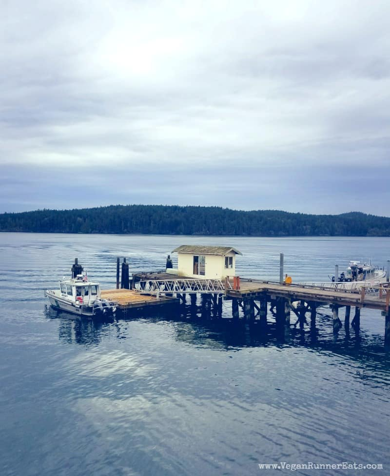 Ferry landing on Orcas Island | Vegan traveling on San Juan Islands