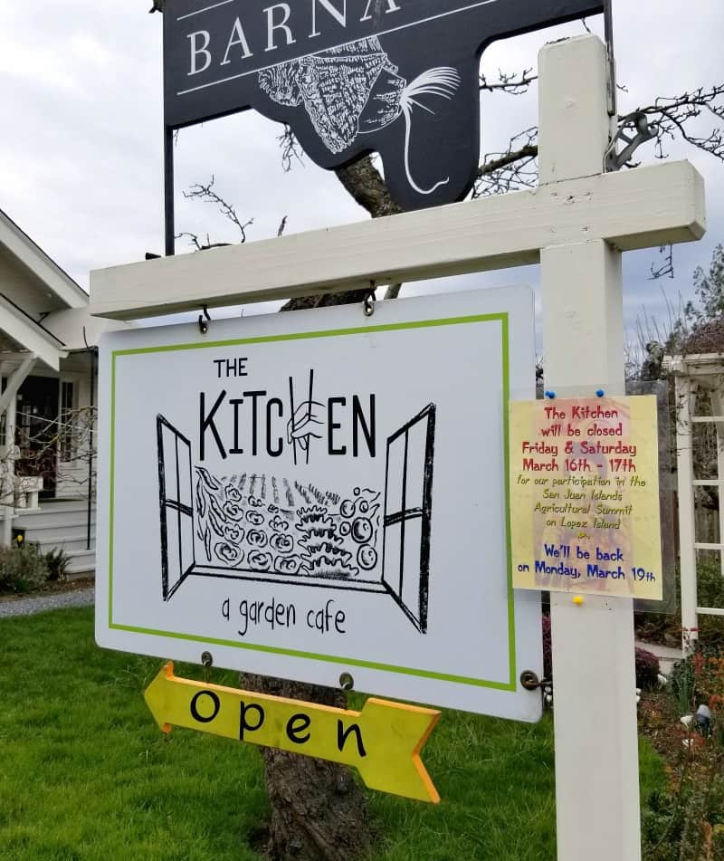 The Kitchen cafe on Orcas Island, WA