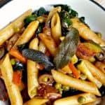Veggie-Loaded Balsamic Pasta – an Easy Vegan Pasta Recipe