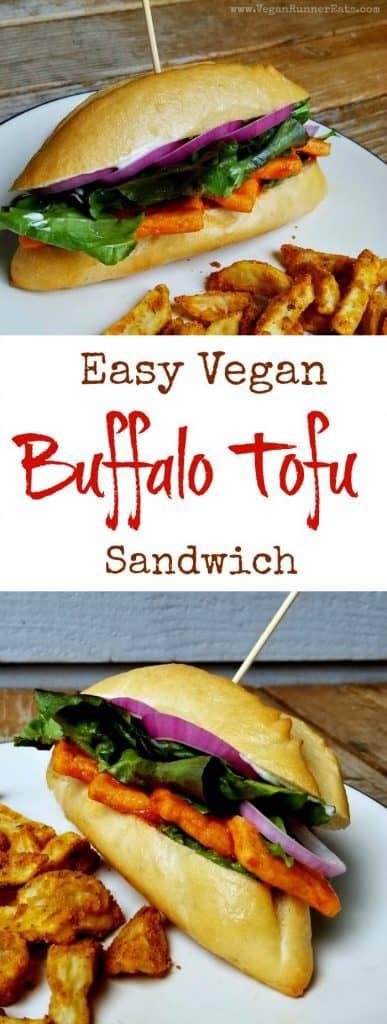 Easy vegan buffalo tofu sandwich recipe