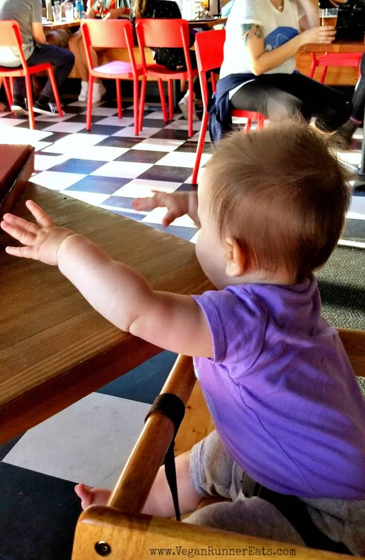 Tips for eating at restaurants with a vegan baby