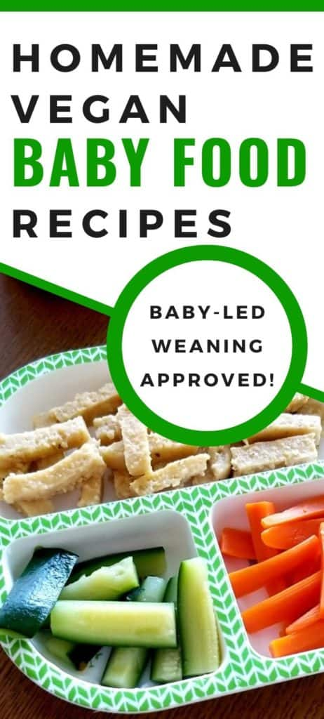 Homemade vegan baby food recipes - baby led weaning approved